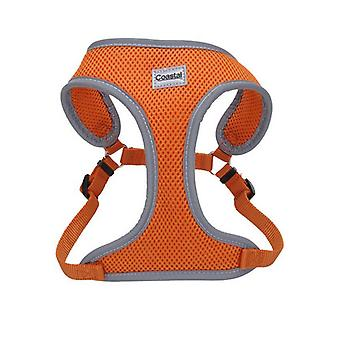 "Coastal Pet Comfort Soft Reflective Wrap Adjustable Dog Harness - Sunset Orange - Small - 19-23"" Girth - (5/8"" Straps)"