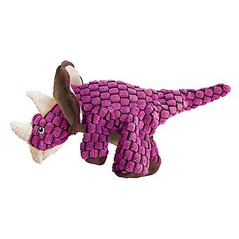 Dog toys dynos triceratops pink small