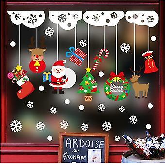 Lomakoristeet näytöt seisoo joulu tarra koristelu joulu ikkuna tarra sisustus diy sisustus tarra joulu