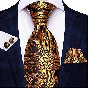 Cravatta italiana hi-tie 100% set cravatta da uomo in seta, 8,5 cm (C-988)