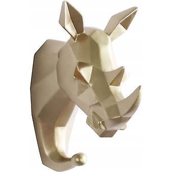 vegg krok selvklebende dyr harpiks frakk krok, håndkle krok vegg dør krok håndkle klær lagring og lagring, gylden rhino