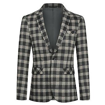 Yunyun Costume homme Blazer Veste Slim Fit Un bouton Manteau de Sport