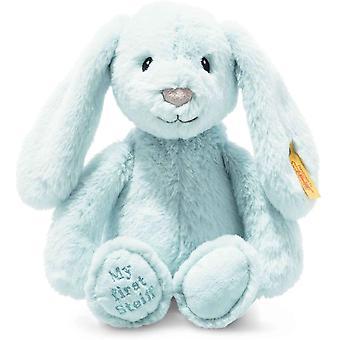Official Steiff Soft Cuddly Friends My First Steiff Blue Hoppie Rabbit