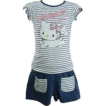 Piger Charmmy Kitty Hello Kitty sommer T-shirt & Shorts sæt