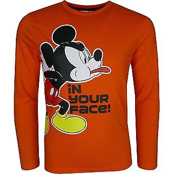 Los chicos Disney Mickey Mouse manga larga Top / camiseta