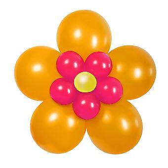 Balon zestaw DIY kwiat pomarańczowy różowy ozdoba