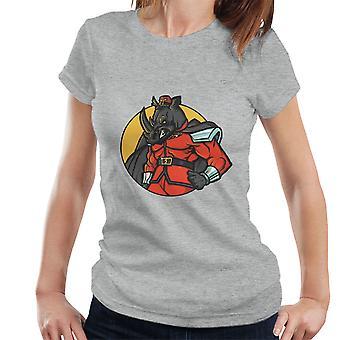 Lawful Evil M Bison Rhino Street Fighter Women's T-Shirt