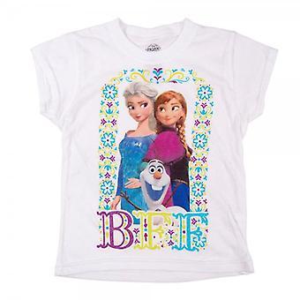 Gefrorene Childrens eingefroren BFF-T-Shirt weiss
