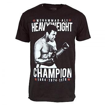 Muhammad Ali Mens Muhammad Ali Heavychamp T Shirt Black