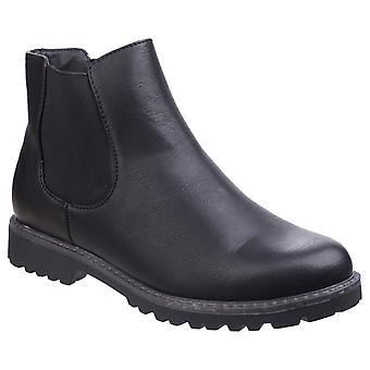 Divaz Womens Grace Ladies Chelsea Boot Black