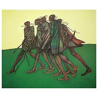 Herdsticks & Sandalen Poster Print von Charles Bibbs (21 x 25)