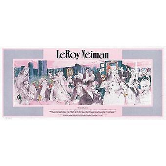 Polo Lounge Poster trykk av LeRoy Neiman (40 x 18)