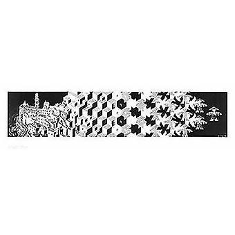 Metamorfosis cartel Poster Print por M.C. Escher