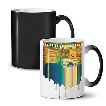 Travel Nowhere NEW Black Colour Changing Tea Coffee Ceramic Mug 11 oz | Wellcoda