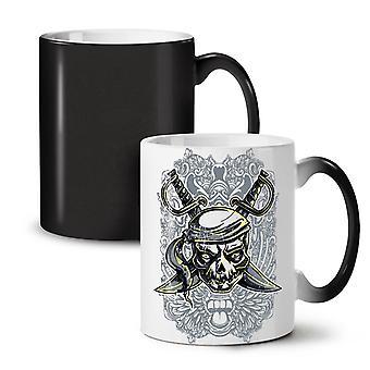 Captain Pirate Dead NEW Black Colour Changing Tea Coffee Ceramic Mug 11 oz | Wellcoda