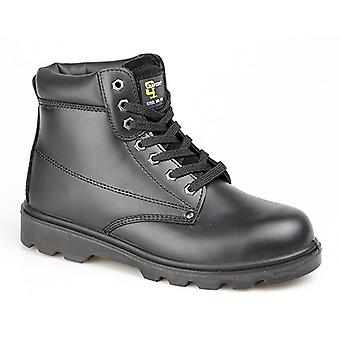 Grafters Mens Padded Leather Safety Boots