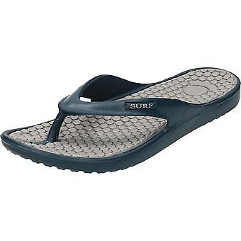 Surf Black/Blue Toe Post Eva Flip Flops