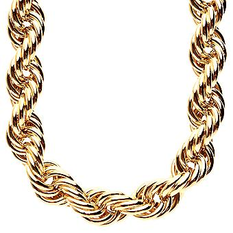 Heavy Rope DMC Style Hip Hop Kordelkette - 16mm gold