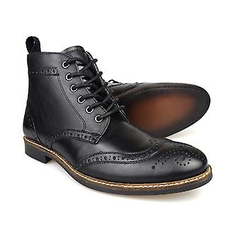 Red Tape Glaven, Men's Black Ankle Boots