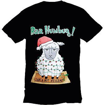 Mens Noël & Womens Festive Bah Humbug moutons Crew Neck T Shirt