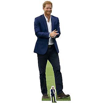 Prince Harry wearing Blue Suit Lifesize Cardboard Cutout / Standee