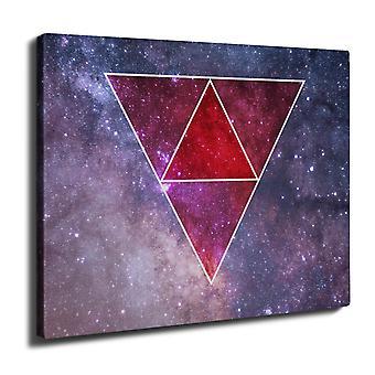 Space Triangles Wall Art Canvas 40cm x 30cm | Wellcoda