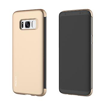 Original ROCK shadow smart cover gold for Samsung Galaxy S8 G950 G950F