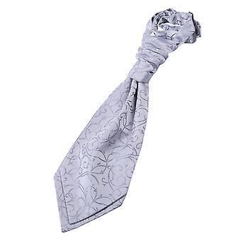 Silber Wirbel Pre gebundene Hochzeit Krawatte für jungen
