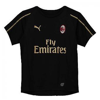 2018-2019 AC Milan Puma Training Shirt (Black) - Kids