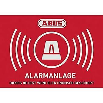 ABUS AU1422 Warning label Alarm secured Languages German (W x H) 148 mm x 105 mm