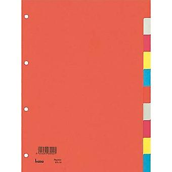Bene 97410 Index A4 Blank Recycled cardboard Multicolour 10 dividers 97410