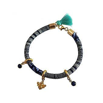 Femmes - bracelet - 925 argent plaqué - AZTEC - BEE - bleu de l'abeille - saphir-