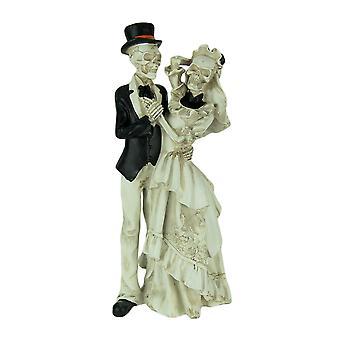Love Never Dies Dancing Skeleton Bride and Groom Statue
