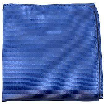 Knightsbridge Neckwear Ribbed Silk Pocket Square - Blue