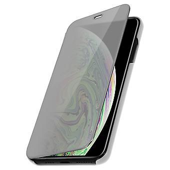 Flip Case, Spiegel Case für Apple iPhone XS Max, stehend Cover - Silber