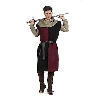 Tunique de chevalier Bordeaux chevalier M. costume chevalier chemise épée combattant mens costume