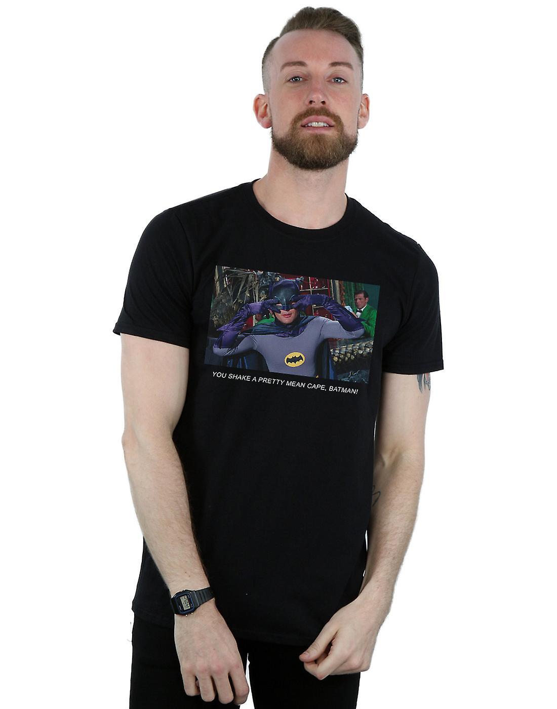 DC Comics Men's Batman TV Series Mean Cape T-Shirt
