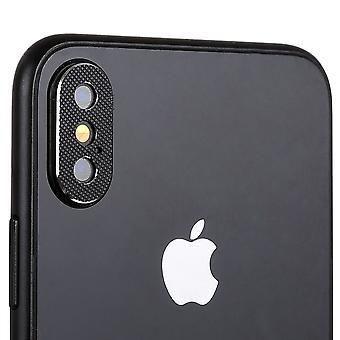 Anillo de protección de protección Cam cámara para Apple iPhone XS 5.8 pulgadas 2Pcs negro alta calidad
