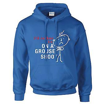 Mens que eu prefiro ser um Grouse disparar azul Royal Hoodie casaco com carapuço