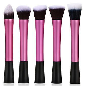Hot Pink 5PC Pack Makeup Brush Set Blending Brush Kit - By TRIXES
