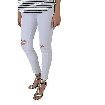 Lovemystyle hvide høje indsnævrede Skinny Jeans med knæ River