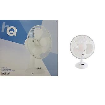 Ventilatore elettrico scrivania 12 pollici 3 regolabile raffreddamento velocità oscillante e griglia di protezione