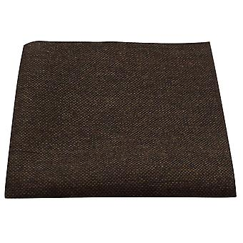 Highland Weave Cocoa Brown Pocket Square, Handkerchief