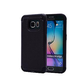 Shock proof case + stylus for Samsung Galaxy S6 Edge (SM-G925) - Black