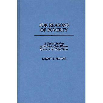 Por razones de pobreza un análisis crítico del sistema de bienestar público infantil en los Estados Unidos por Pelton & Leroy H.