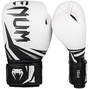 Venum Challenger 3.0 Hook & Loop Boxing Training Gloves - White/Black