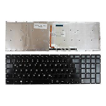 Toshiba Satellite P50-A-12Z taustavalaistu kiiltävä musta Windows 8 Saksan layout korvaaminen kannettavan tieto koneen näppäimistö