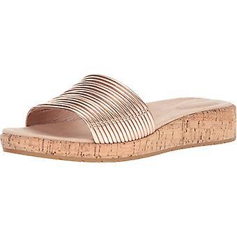 Sandálias de Slide Casual espírito fácil das mulheres Mullen couro dedo aberto