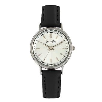 Sophie & Freda Berlin Leather-Band Watch - Black