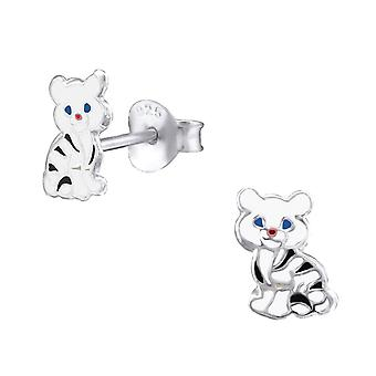Gyerekek ' s sterling ezüst Cat Stud fülbevaló